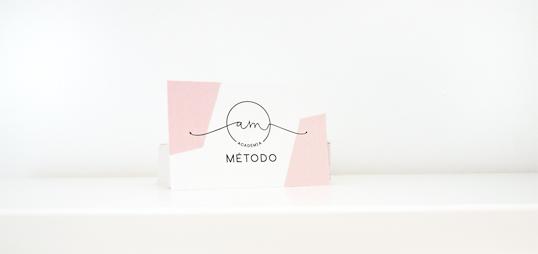 tarjeta visita de academia metodo en huesca